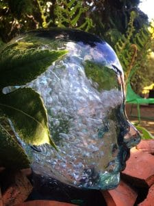 Cool glass head water
